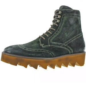 Donald J. Pliner-Green Brushed Suede Dress Boots 9